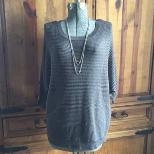 Ladies APT.9 Grey and silver mesh sweater. NWT. XL